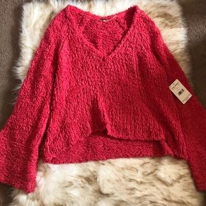 NWT Pink Free People Sweater